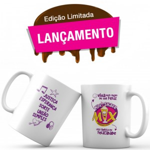 Caneca Personalizada Milk Shake Mix 400ml - Kit com 10