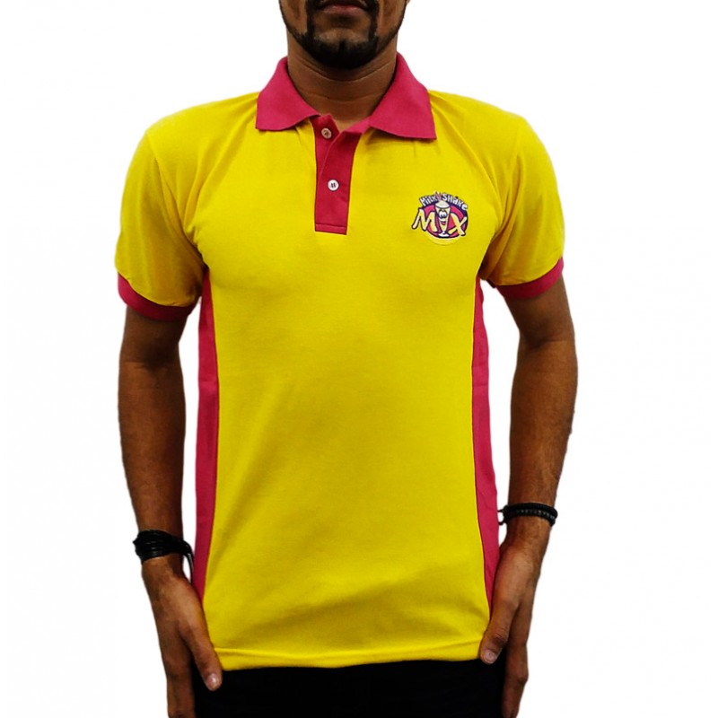 f5a3bb3336 Camiseta Polo Masculina Milk Shake Mix
