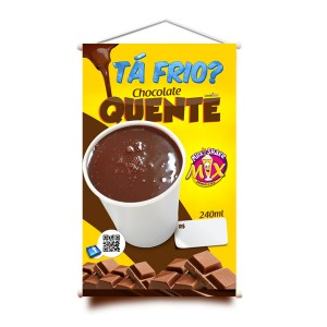 BANNER - CHOCOLATE QUENTE - 50X80